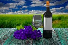 Wine render Stock Photo