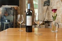 Wine in restaurant Stock Image