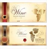 Wine retro banner Stock Photo