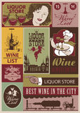 Wine retro set Royalty Free Stock Image