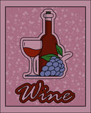Wine retro sign Stock Image