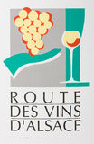 Wine road, Alsace Stock Photos