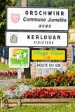 Wine road, Orschwihr Stock Images