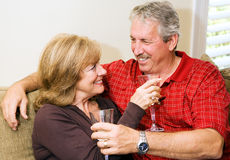 Wine and Romance Royalty Free Stock Photos