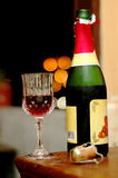Wine at romantic night. Still life shot of wine at romantic night - Portrait format Stock Photos
