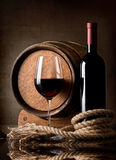 Wine and rope Stock Image