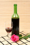 Wine and rose Royalty Free Stock Photo