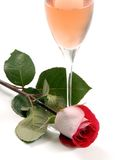 Wine and Rose Royalty Free Stock Photos