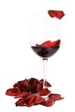Wine and roses stock image
