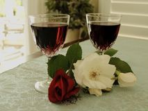 Wine roses Stock Photography