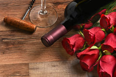 Wine and Roses Royalty Free Stock Image