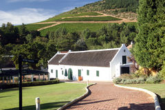 Wine route. Of south africa, typical estate of wine producers Royalty Free Stock Photography