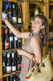 Wine in a Rustic Shop Stock Image
