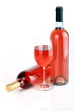 Wine S Bottles With Wine Glass Royalty Free Stock Photography