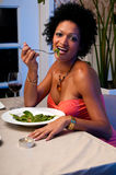 Wine and salad Royalty Free Stock Photography
