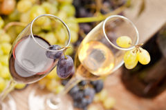 Wine sampling Royalty Free Stock Images