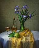 Wine with the scent of irises Royalty Free Stock Image