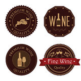 Wine seals. Over white background vector illustration Stock Photos