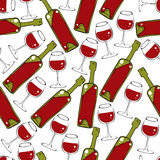 Wine seamless pattern. Royalty Free Stock Photography