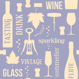 Wine seamless pattern Royalty Free Stock Photos