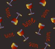 Wine seamless pattern. Wine glasses. conceptual colorful alcohol drinks repeating background for web and print purpose. vector illustration