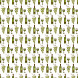 Wine seamless pattern Royalty Free Stock Image