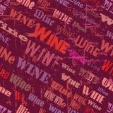 wine seamless pattern Royalty Free Stock Image
