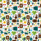 Wine seamless pattern Stock Images