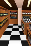 Wine section in a store Royalty Free Stock Images