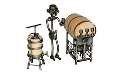 Wine seller iron toy Stock Images