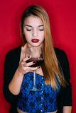 Wine and sensuality Royalty Free Stock Images