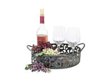 Wine in Serving Tray Stock Photos