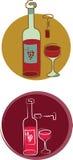 Wine set - 1 Royalty Free Stock Photos