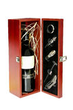 Wine set. In box isolated included clipping path stock photography