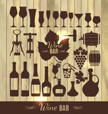 Wine set icon. Stock Photography