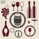 Wine. Set Stock Photos