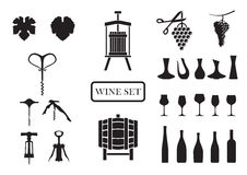 Wine set Stock Photos