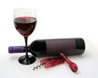 Wine setting Royalty Free Stock Images