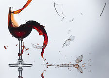 Wine Shatter Royalty Free Stock Photography