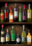 Wine_shelf Royalty Free Stock Photo
