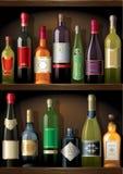 Wine_shelf Foto de archivo libre de regalías