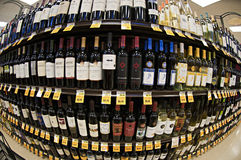 Wine shelf Royalty Free Stock Photo