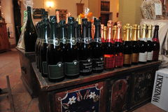 Wine shelf Royalty Free Stock Photo