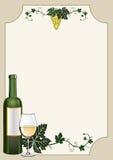 Wine shield Stock Image