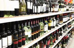 Wine shop Royalty Free Stock Photo
