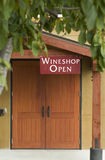 Wine Shop Entrance Royalty Free Stock Photos