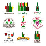 Wine shop logos set Stock Images