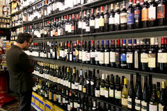 Wine shop in Rome Stock Photos