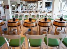 Wine shop in Santornini Stock Photo