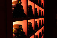 Wine shop storage Royalty Free Stock Images